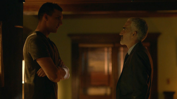Scott Michael Foster and Patrick Fischler in 'The Pact 2' - (IFC Midnight - Credit: Carmen Cabana & Ron Batzdorf, Copyright: Unlocked Door Films, LLC)