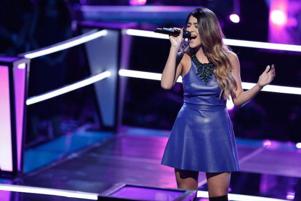"""THE VOICE --  """"Battle Rounds"""" Episode 709 -- Pictured: Mia Pfirrman -- (Photo by: Tyler Golden/NBC)"""