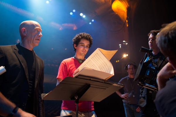 J.K. Simmons, Damien Chazelle, Miles Teller (Sony Pictures Classics, CR: Daniel McFadden)
