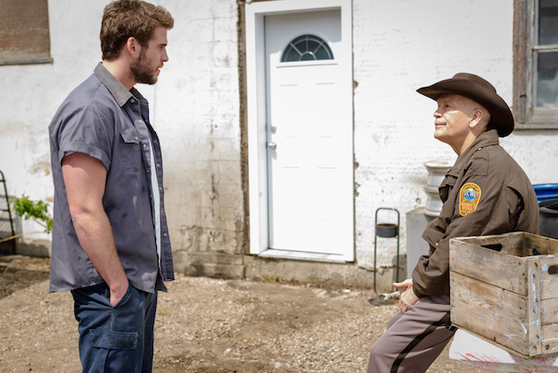 "Liam Hemsworth & John Malkovich in ""Cut Bank"" (A24 Films)"