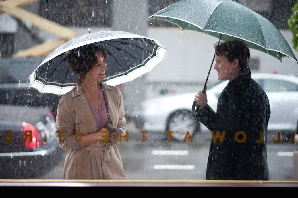 Berenice Marlohe (Arielle) and Anton Yelchin (Brian) in Victor Levin's 5 TO 7. Courtesy of Walter Thomson. An IFC Films release.