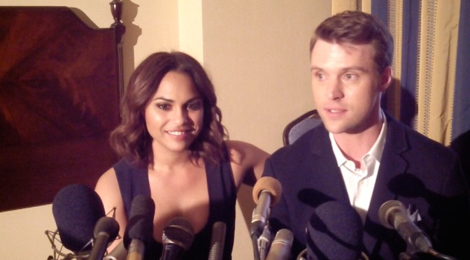 "VIDEO: Monica Raymund & Jesse Spencer Talk ""Chicago Fire"" Support"