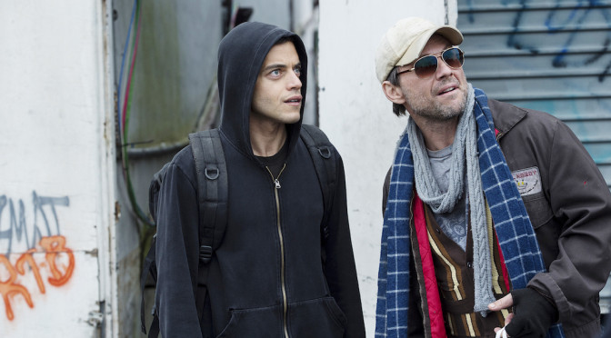 "VIDEO: Rami Malek & Christian Slater Talk ""Mr. Robot"" & Paranoia"